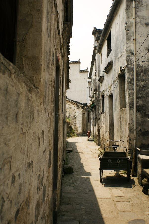 Hongcun village, old street in china royalty free stock photos
