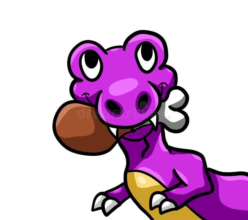 Hongerig Purper T Rex royalty-vrije illustratie