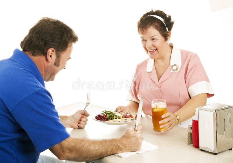 Hongerig voor Diner royalty-vrije stock foto
