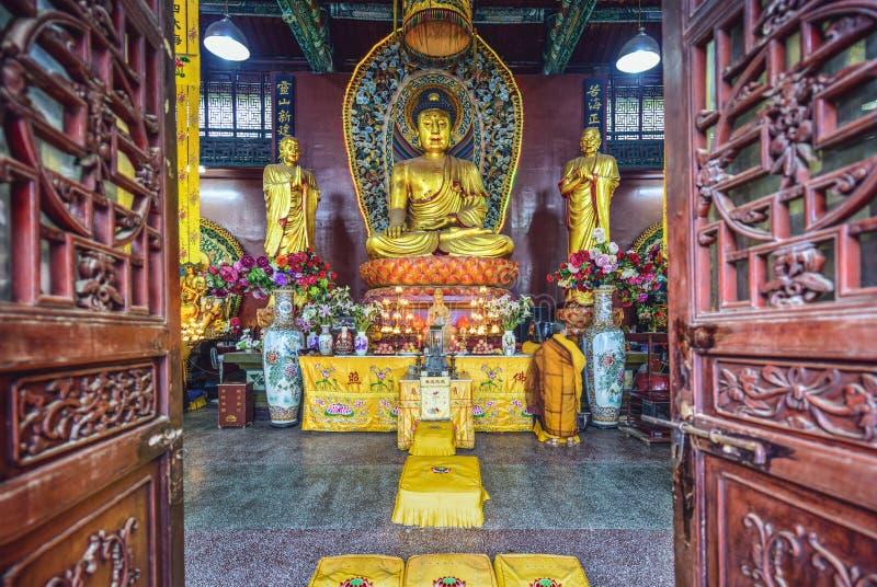 Hongfu-Tempel von Guiyang, China lizenzfreie stockfotos