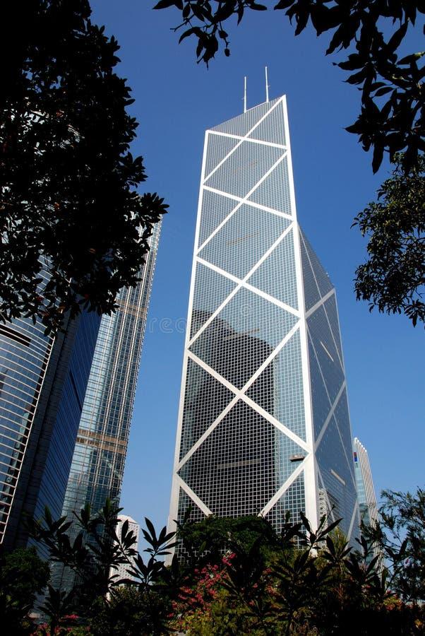 Hongkong: Bank van de Toren van China royalty-vrije stock afbeeldingen