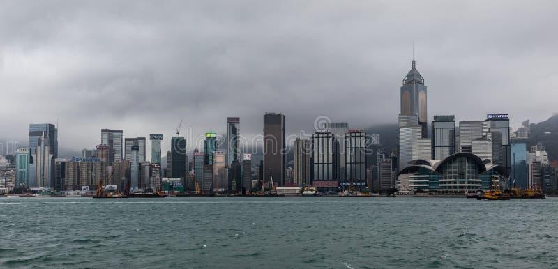 HONGKONG, CHINA/ASIA - 29 FEBRUARI: Mening van de horizon in Hong stock foto