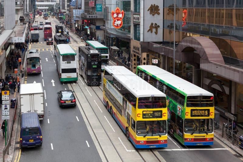HONGKONG, CHINA/ASIA - 27 FEBRUARI: Stedelijke scène in de Chi van Hongkong royalty-vrije stock afbeelding