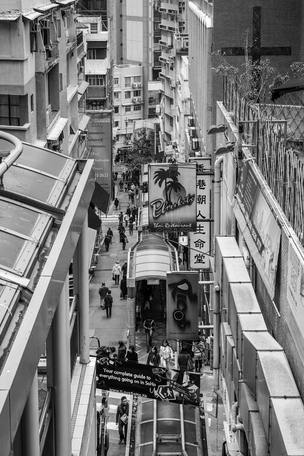 HONGKONG, CHINA/ASIA - LUTY 27: Miastowa scena w Hongkong dalej fotografia royalty free