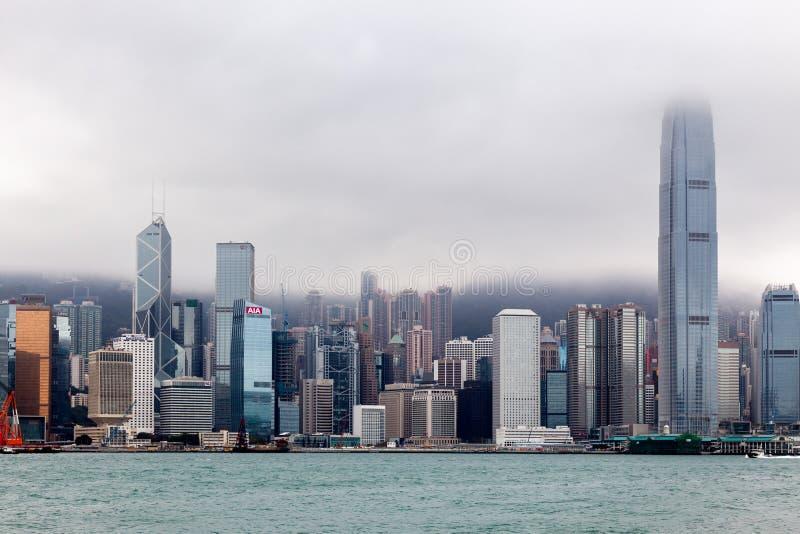HONGKONG, CHINA/ASIA - LUTY 29: Widok linia horyzontu w Hong obrazy stock