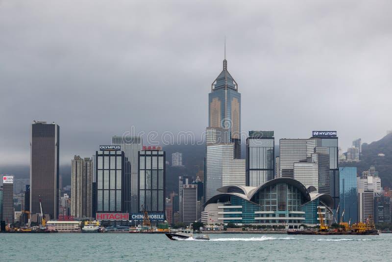 HONGKONG, CHINA/ASIA - LUTY 29: Widok linia horyzontu w Hong zdjęcia royalty free