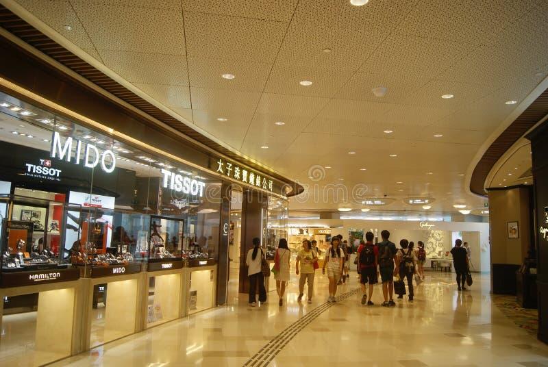 Hongkong, China: large-scale comprehensive shopping mall V City. Hongkong Tuen Mun District large-scale comprehensive shopping mall V City, people can buy brand stock photos