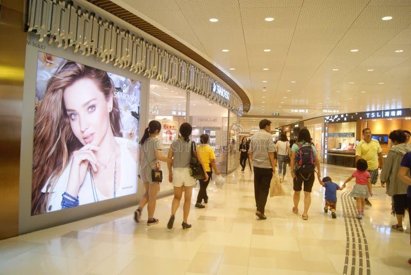 Hongkong, China: large-scale comprehensive shopping mall V City. Hongkong Tuen Mun District large-scale comprehensive shopping mall V City, people can buy brand stock photo