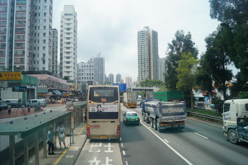 Hongkong, China: Road Traffic royalty free stock image