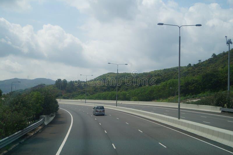 Hongkong, Chiny: Drogowy ruch drogowy obraz stock