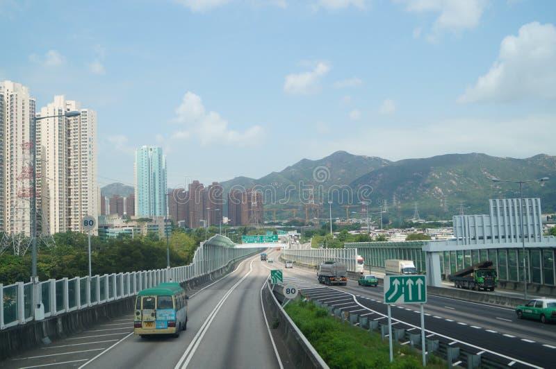 Hongkong, Chiny: Drogowy ruch drogowy zdjęcia royalty free