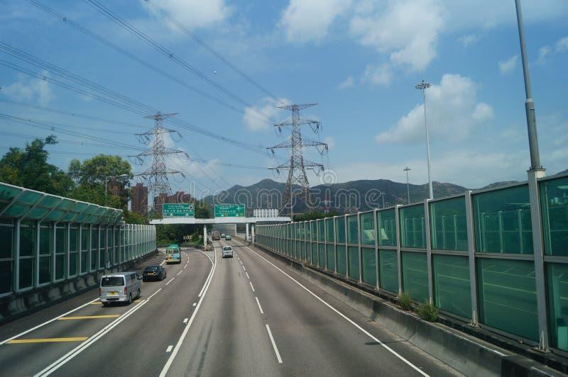 Hongkong, Chiny: Drogowy ruch drogowy fotografia royalty free