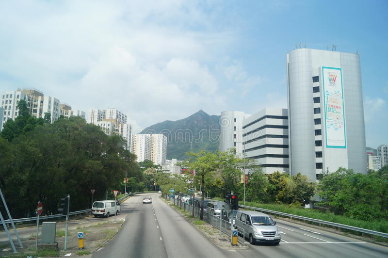 Hongkong, Chiny: Drogowy ruch drogowy obrazy stock