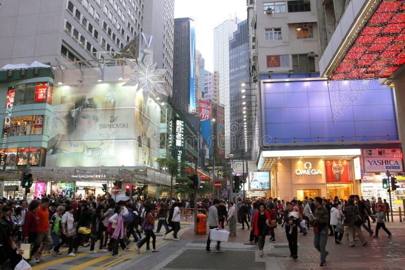 Hongkong: De Baai van de verhoogde weg stock afbeelding