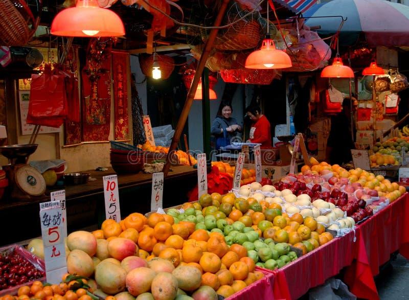 Hongkong: De Markt van de Straat van Gressam stock foto's