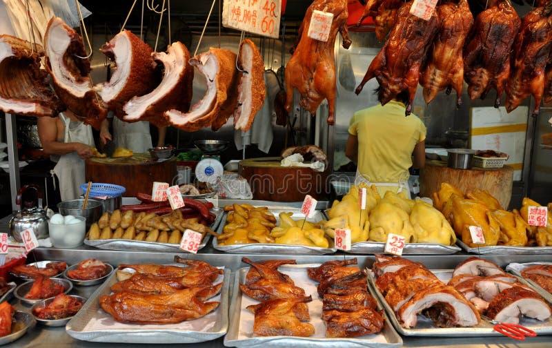 Hongkong: De Slagerij van Kok van Mong stock afbeeldingen