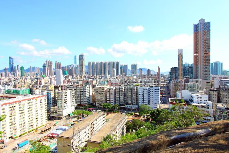 Hongkong de stad in bij dag royalty-vrije stock afbeeldingen