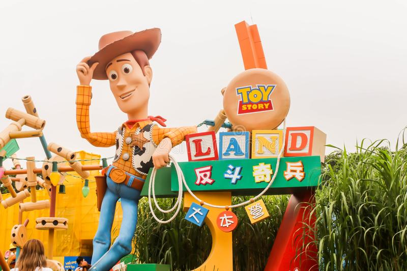 HONGKONG, HONGKONG DISNEYLAND - 30 March 2019 Closeup of Toy story Land in small world, Hong Kong Disneyland royalty free stock images