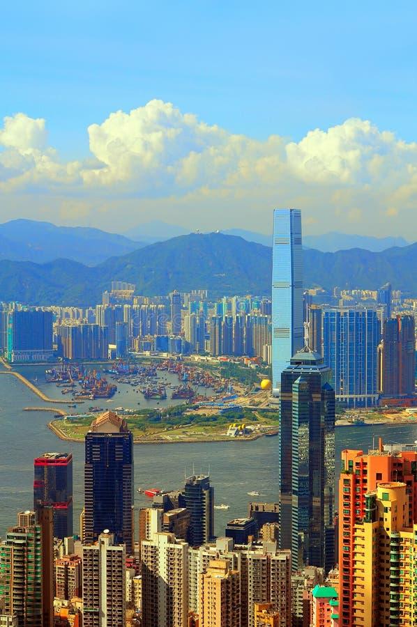 Hongkong en Kowloon stock afbeelding