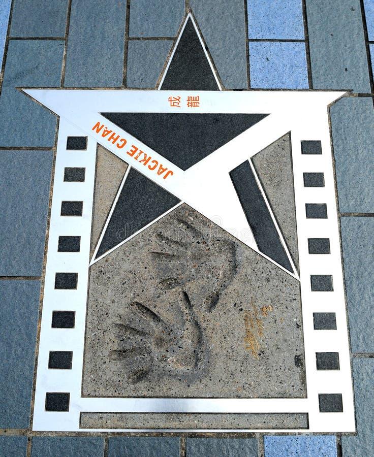 Hongkong Jackie Chan Star royalty-vrije stock fotografie