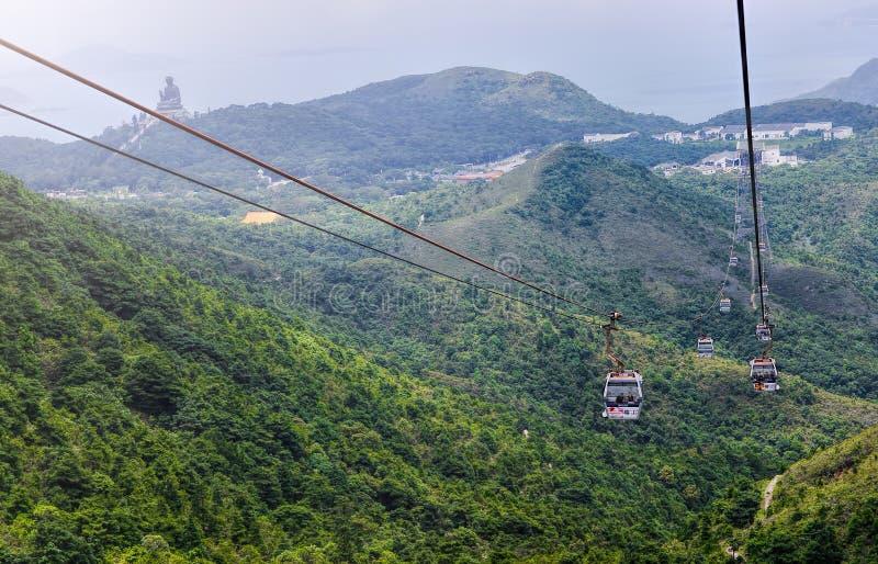 HONGKONG JUNI 09, Ngong knackar 360 är ett turismprojekt på Lanta arkivbilder