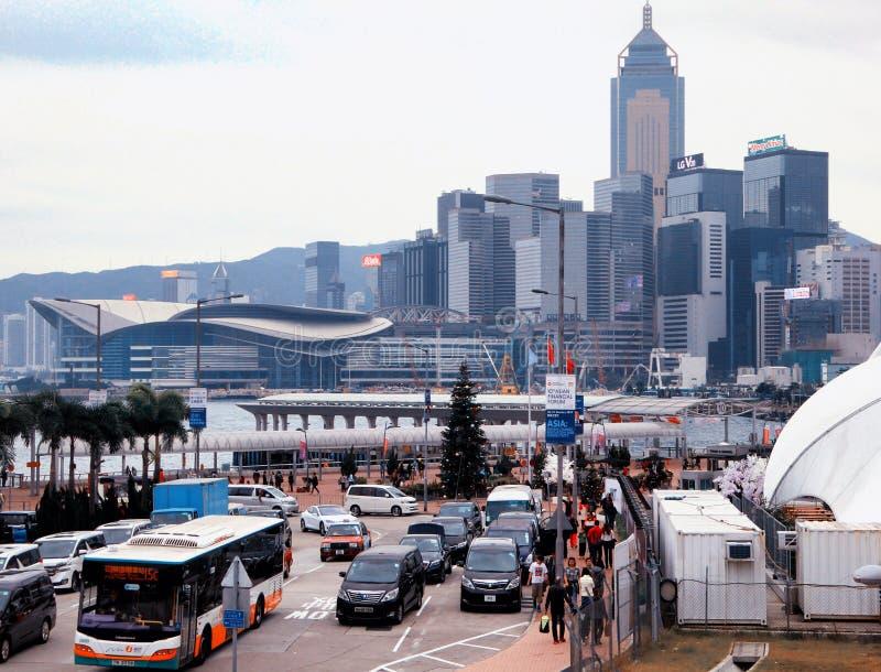 hongkong linia horyzontu zdjęcie stock