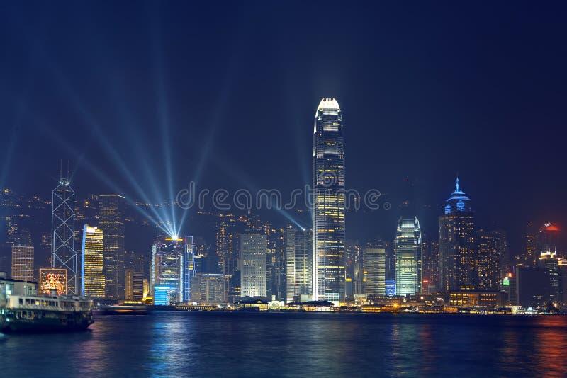 hongkong linia horyzontu fotografia stock