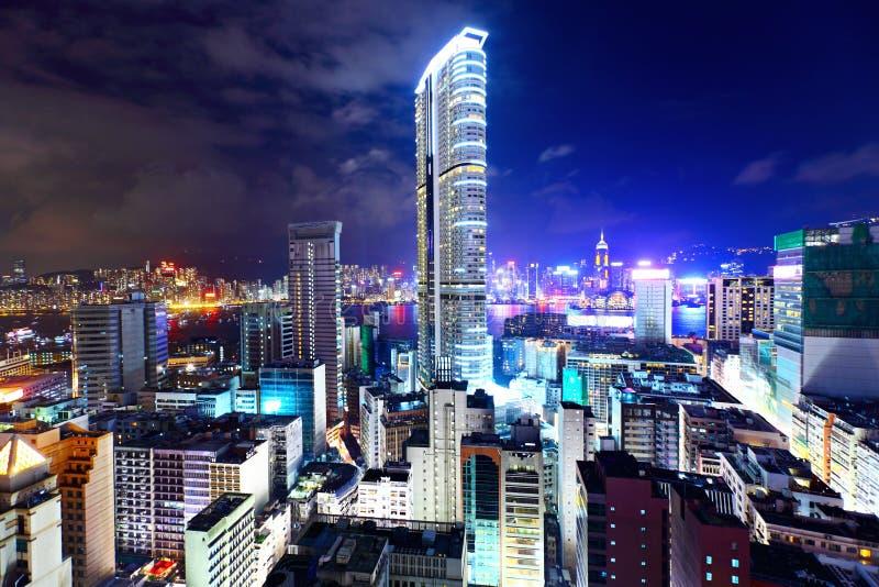 Hongkong met de overvolle bouw royalty-vrije stock afbeeldingen