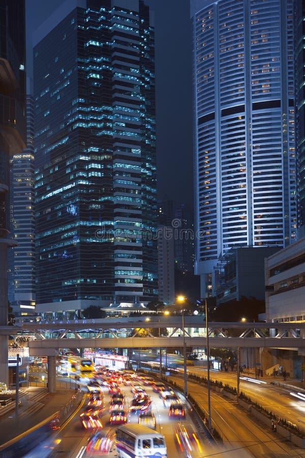 Hongkong at night stock photo