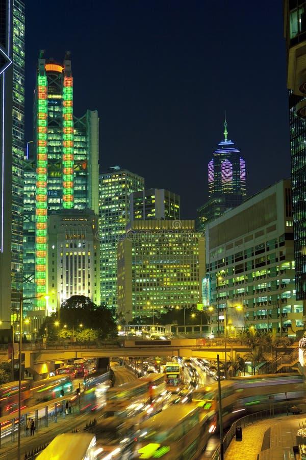 Hongkong at night stock image