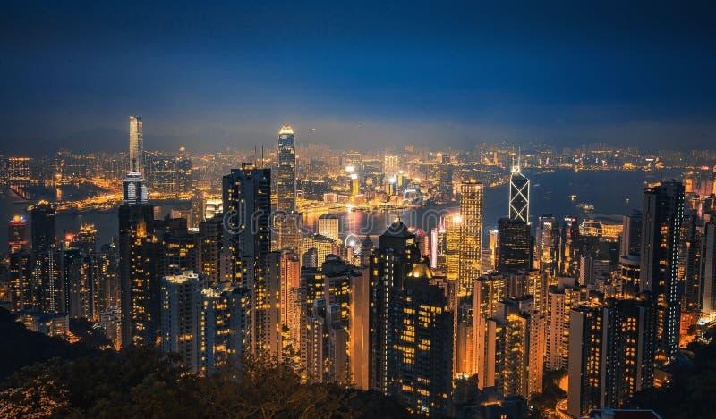 hongkong noc scena zdjęcia stock
