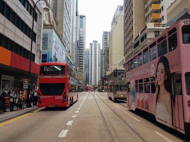 Hongkong s tramwaj zdjęcie royalty free