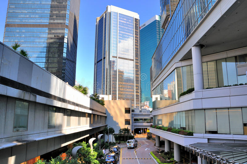 Download Hongkong, Street Among Modern Buildings Editorial Image - Image: 25384420