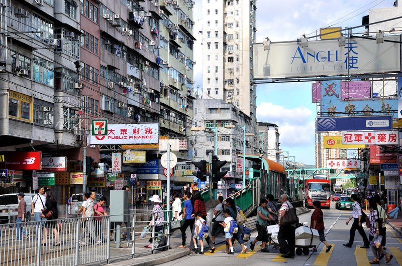 Download Hongkong street view editorial image. Image of architecture - 24745745
