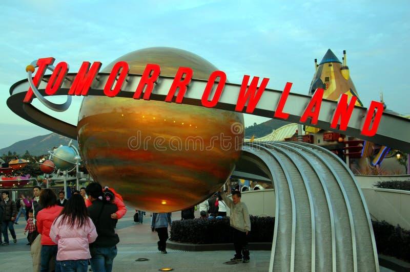 Hongkong: Tomorrowland in Disneyland stock foto's