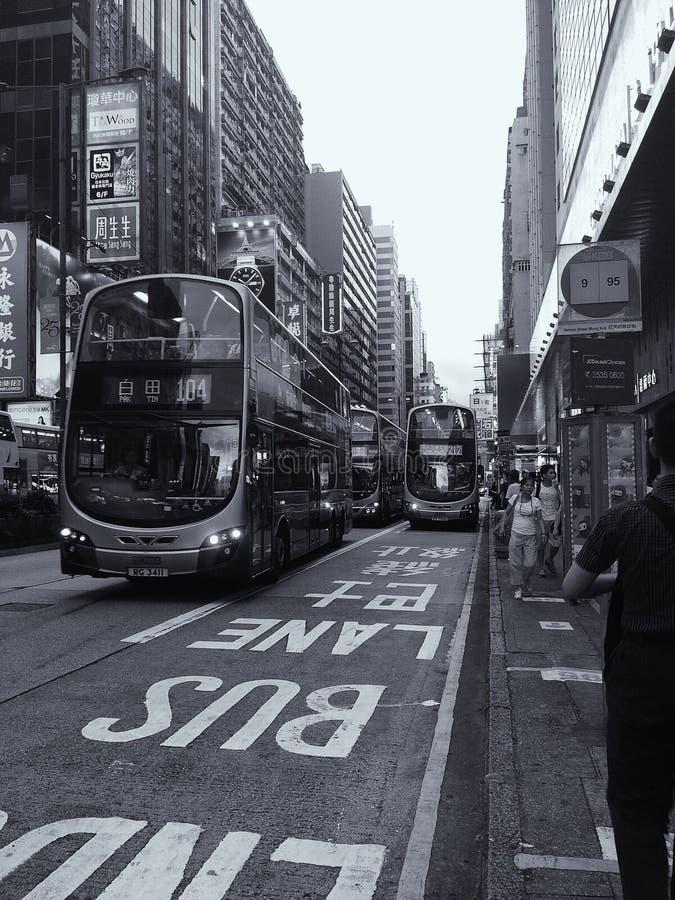 Hongkong& x27; tráfico de s imagenes de archivo