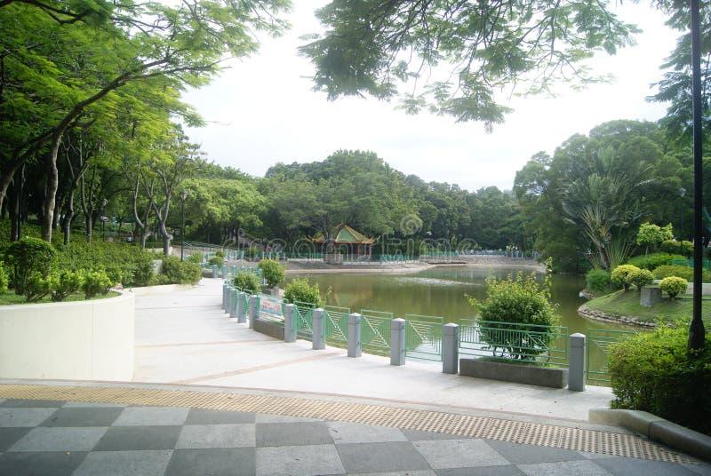 Hongkong Tuen Mun Park jezioro fotografia stock