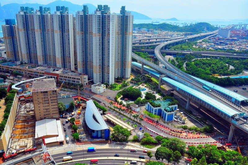 Hongkong urbanscape stock afbeeldingen