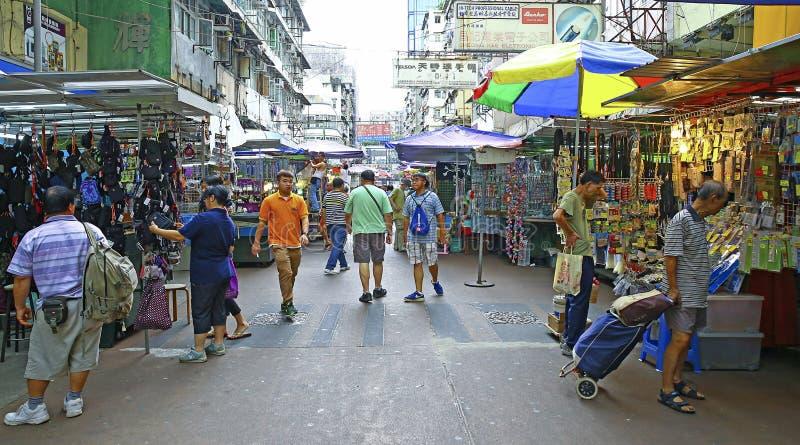 Hongkong van de binnenstad: apliustraat, veinzerijshui po royalty-vrije stock afbeelding