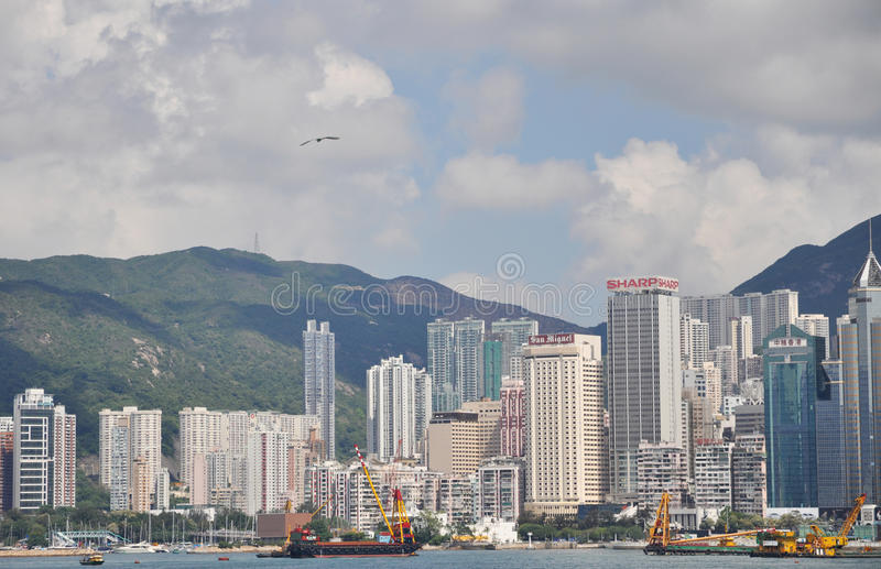 Hongkong vicotoria bay stock photography