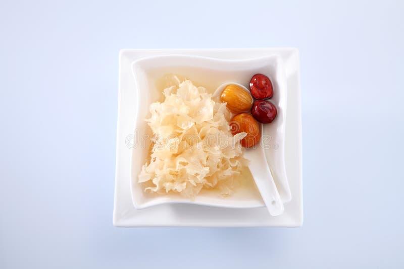 Hongo de jalea de la nieve foto de archivo libre de regalías