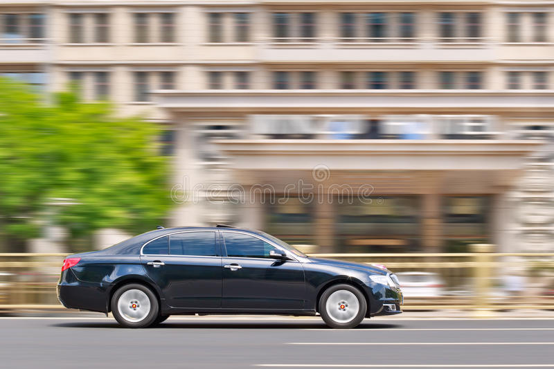 Hongqi H& sedan on the road in Beijing center, China royalty free stock photo