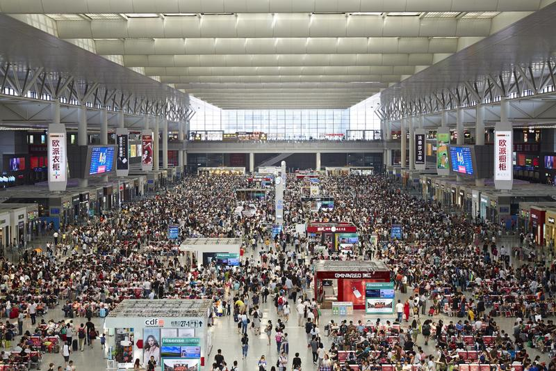 Hongqiaostation, Shanghai stock afbeeldingen