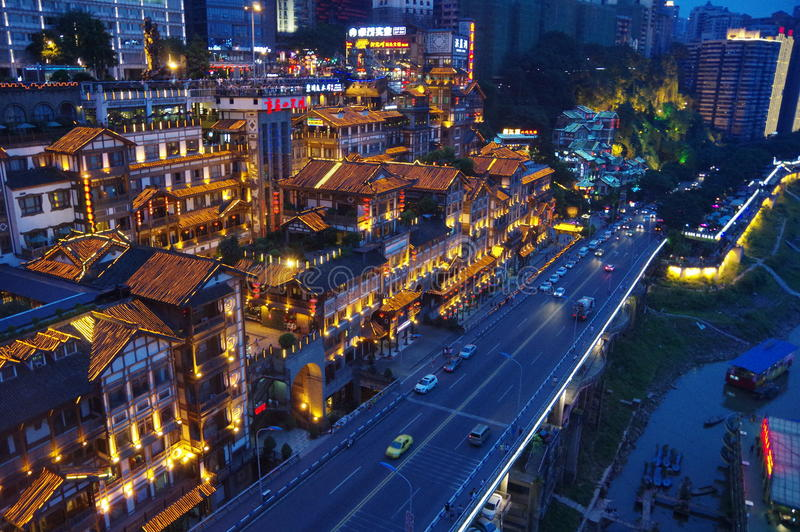 Hongyadong Chongqing imagen de archivo