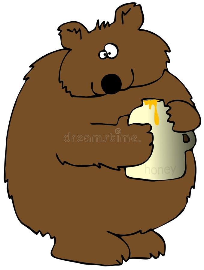 Honig-Bär lizenzfreie abbildung