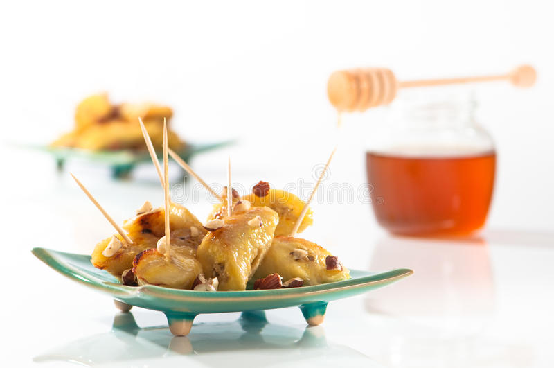 Honig-Bananen lizenzfreie stockfotografie