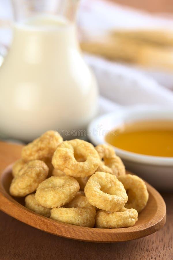 Honig gewürzte Getreide-Regelkreise lizenzfreies stockfoto