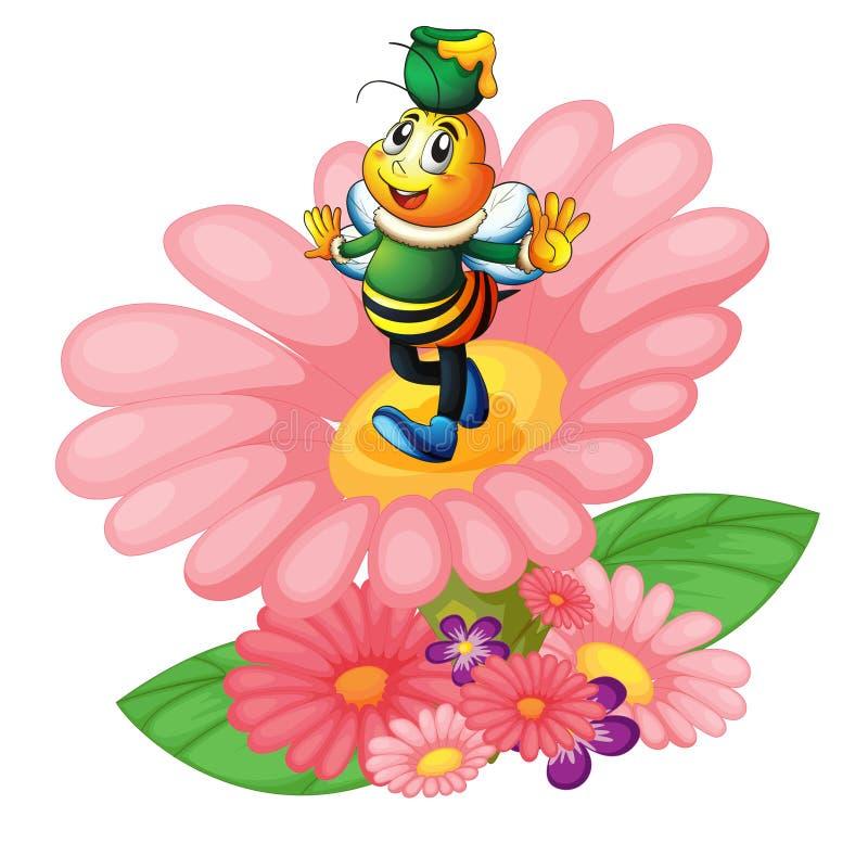 Download Honigbiene und -blumen vektor abbildung. Illustration von blätter - 26352174