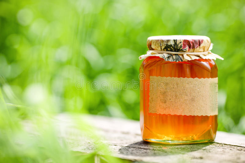 Honigglas stockfotos