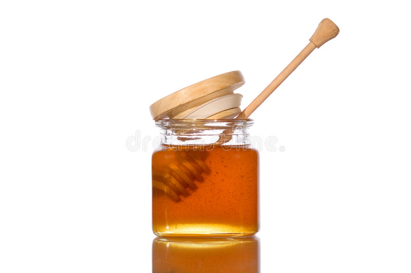 Honigglas Lizenzfreie Stockfotos